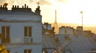 Eiffelturm vom Sacré Coer aus