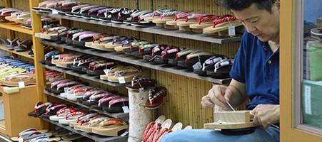 Zori Schuhgeschäft in Asakusa