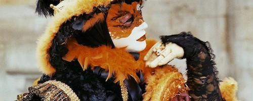 Maske black-orange